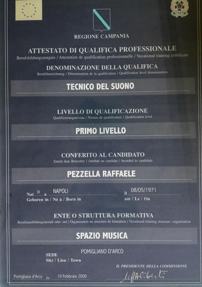 Sound technician diploma