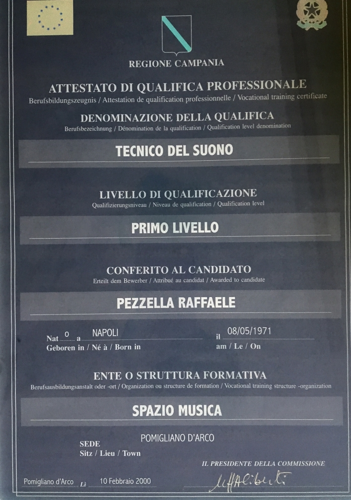 Sound technician diploma
